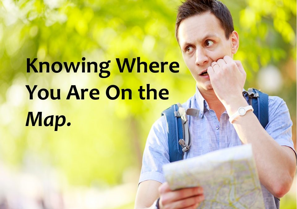 Knowing where you are on the Map